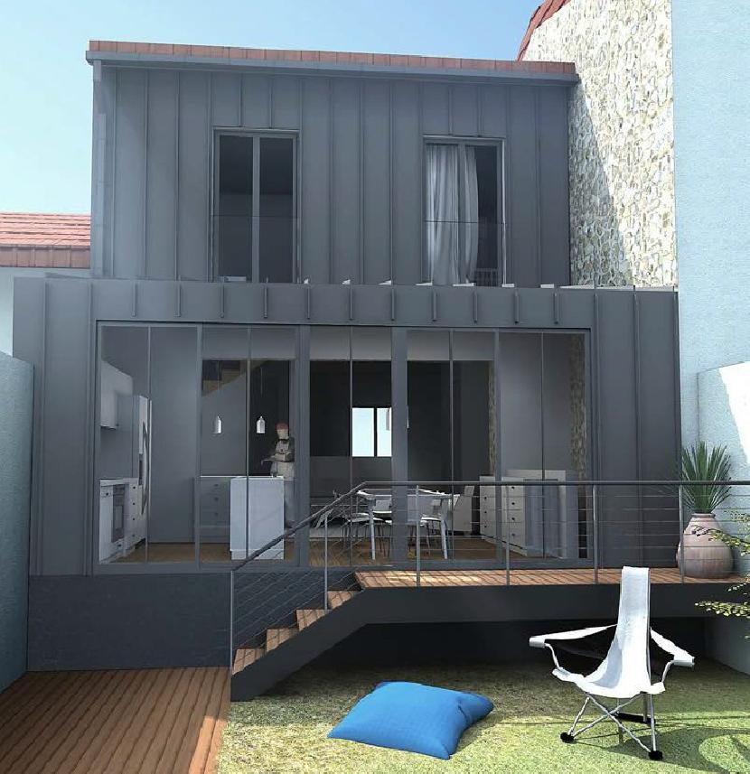 Boisphere construction maison et extension bois 95 val d 39 oise - Extension cuisine sur jardin ...